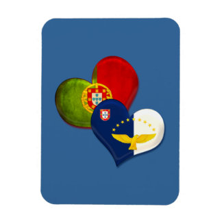 Portugal and Azores hearts Rectangular Photo Magnet