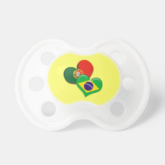 Portugal and Brazil hearts BooginHead Pacifier