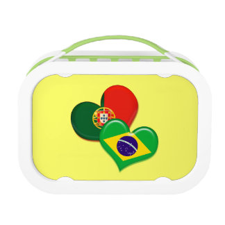 Portugal and Brazil hearts Replacement Plate