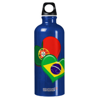Portugal and Brazil hearts SIGG Traveler 0.6L Water Bottle