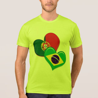 Portugal and Brazil hearts T-Shirt