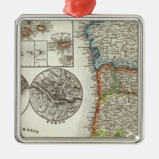 Portugal and Cape Verde Islands Metal Ornament