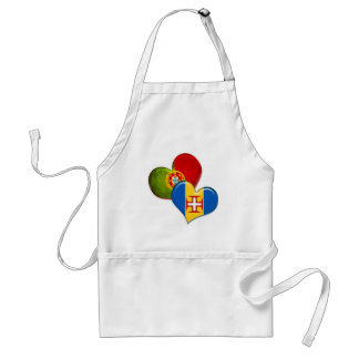 Portugal and Madeira hearts Adult Apron
