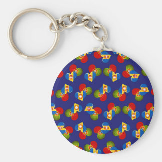 Portugal and Madeira hearts Keychain