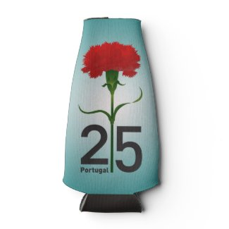 Portugal and red carnation bottle cooler