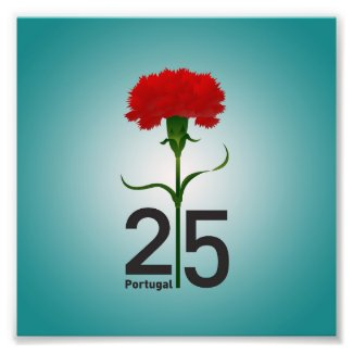 Portugal and red carnation photo print