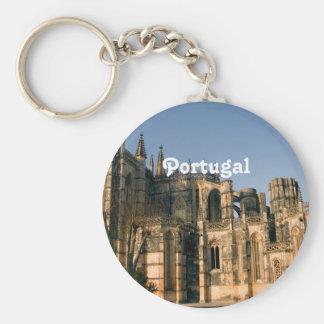 Portugal Architecture Basic Round Button Keychain