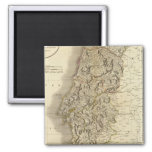 Portugal Atlas Map 2 Inch Square Magnet