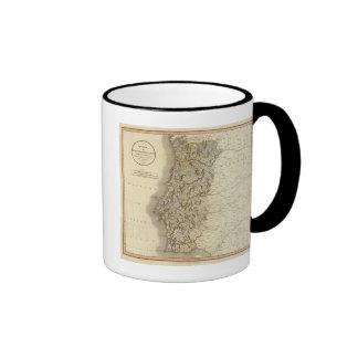 Portugal Atlas Map Ringer Coffee Mug