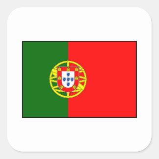 Portugal - bandera portuguesa calcomania cuadradas