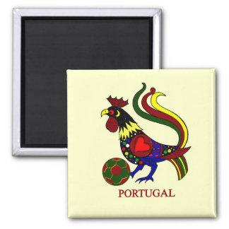 """Portugal barcelos """"galo"""" jogador de futebol 2 inch square magnet"""