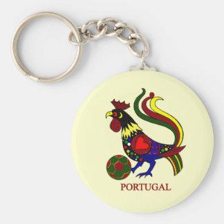"Portugal barcelos ""galo"" jogador de futebol keychain"