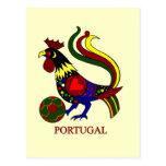 """Portugal barcelos """"galo"""" jogador de futebol postcards"""