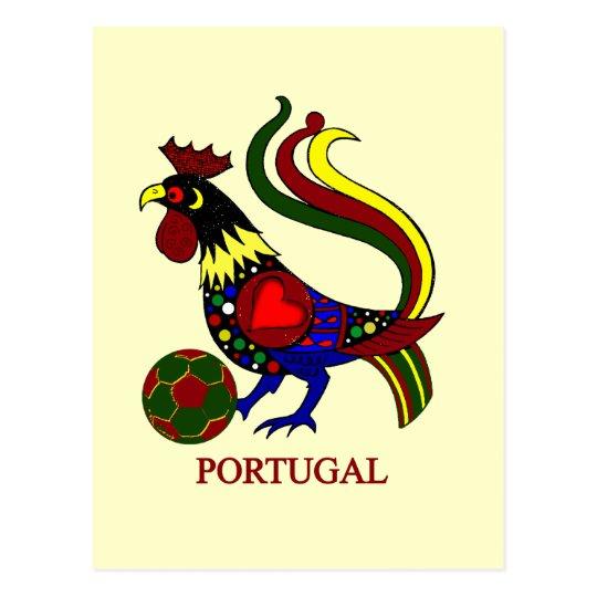 "Portugal barcelos ""galo"" jogador de futebol postcard"
