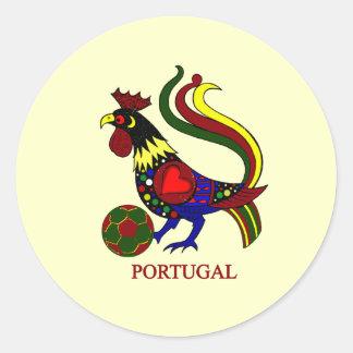 """Portugal barcelos """"galo"""" jogador de futebol sticker"""