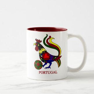"""Portugal barcelos """"galo"""" jogador de futebol Two-Tone coffee mug"""