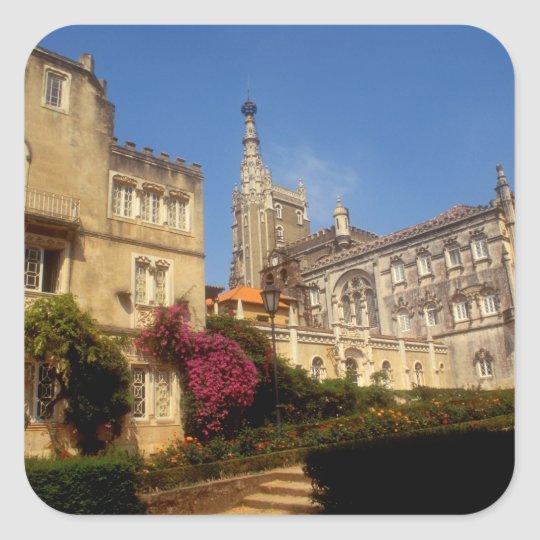 Portugal, Bussaco Palace. Square Sticker
