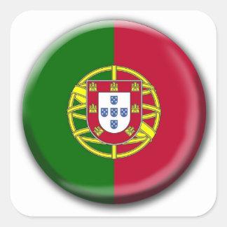 Portugal Button Flag Sticker