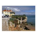 Portugal, Cascais. Praia da Rainha, a beach in 2 Postcard