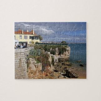 Portugal, Cascais. Praia da Rainha, a beach in 2 Puzzle