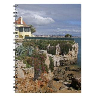Portugal, Cascais. Praia da Rainha, a beach in 2 Spiral Notebook