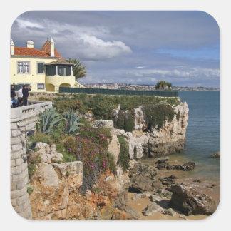Portugal, Cascais. Praia da Rainha, a beach in 2 Square Sticker