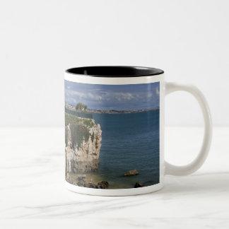 Portugal, Cascais. Praia da Rainha, a beach in 2 Two-Tone Coffee Mug