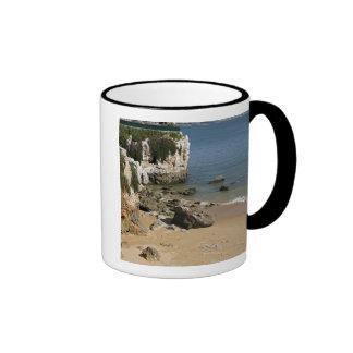 Portugal, Cascais. Praia da Rainha, a beach in Ringer Mug