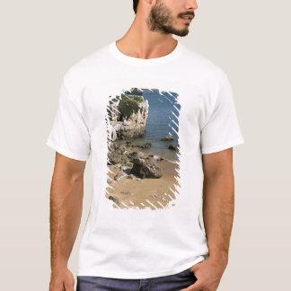 Portugal, Cascais. Praia da Rainha, a beach in T-Shirt