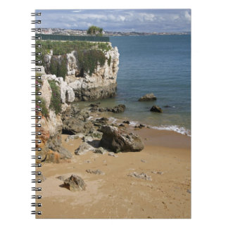 Portugal, Cascais. Praia DA Rainha, una playa aden Spiral Notebook