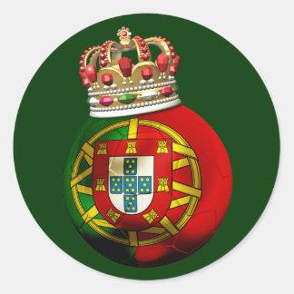 Portugal Champion Classic Round Sticker