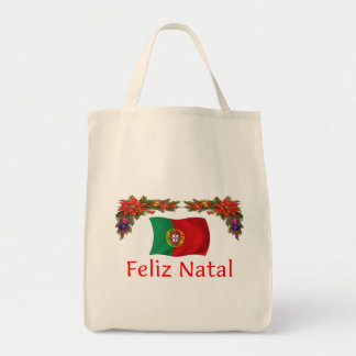 Portugal Christmas Grocery Tote Bag
