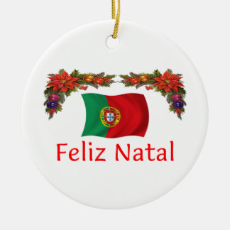 Portugal Christmas Ceramic Ornament