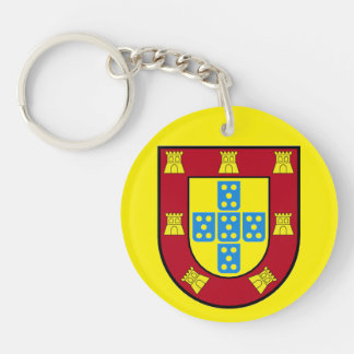 Portugal Circle (double-sided) Keychain