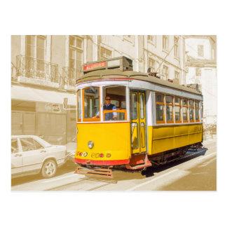 Portugal - classic tramcar of Lisbon Postcard