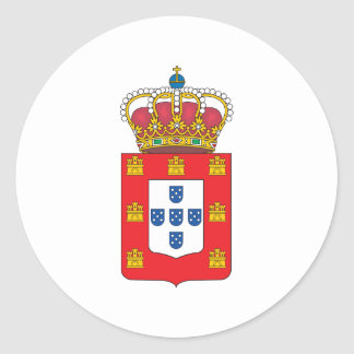 Portugal Coat Of Arms 1830 Classic Round Sticker