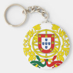 Portugal Coat Of Arms Basic Round Button Keychain