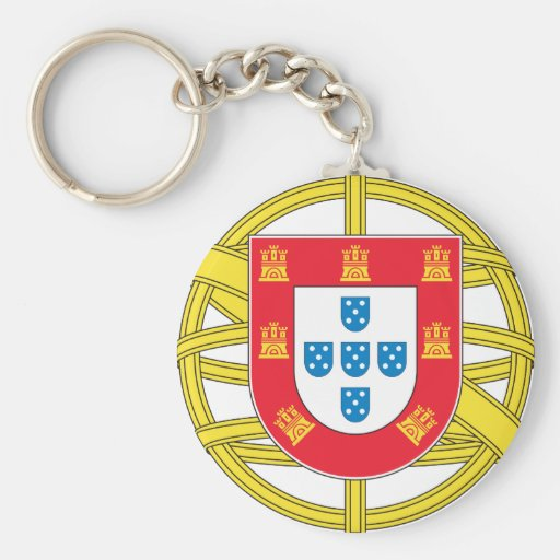 Portugal - Coat Of Arms Basic Round Button Keychain