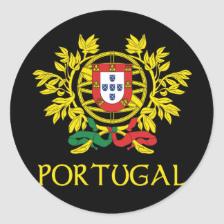 Portugal Coat of Arms Classic Round Sticker