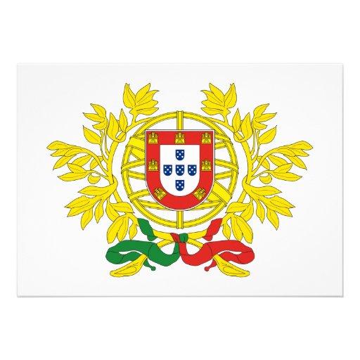 Portugal Coat of Arms Custom Invitation