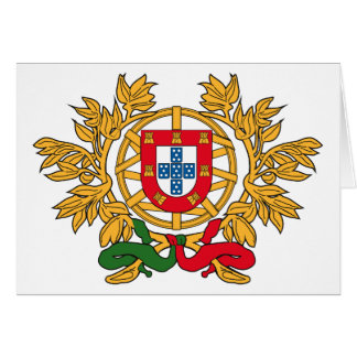 Portugal Coat of Arms Greeting Card