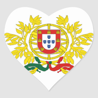 Portugal Coat Of Arms Heart Sticker