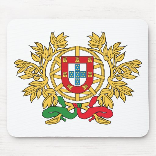 Portugal Coat Of Arms Mouse Pad