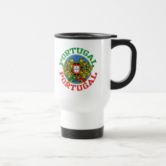 Portugal Coat of Arms 15 Oz Stainless Steel Travel Mug