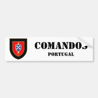 Portugal commands car bumper sticker