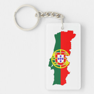 portugal country flag map keychain