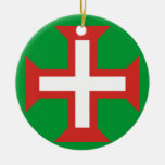 PORTUGAL*- cruz del ornamento del navidad Adorno Redondo De Cerámica