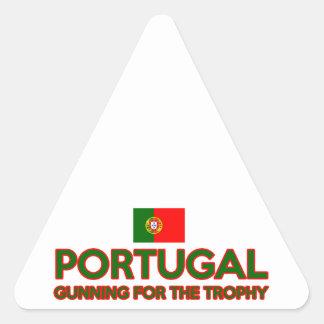 Portugal design triangle sticker