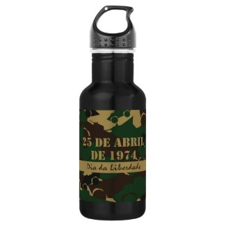 Portugal, Dia da Liberdade or Freedom Day 18oz Water Bottle