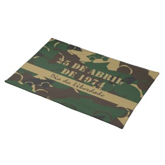 Portugal, Dia da Liberdade or Freedom Day Cloth Placemat